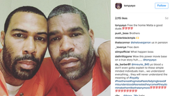 Omari Hardwick took a selfie with inmate Matthew Draper.