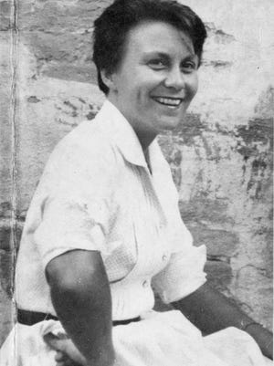 This photo of Harper Lee on the jacket flap of 'Go Set a Watchman' is from the 1950s.