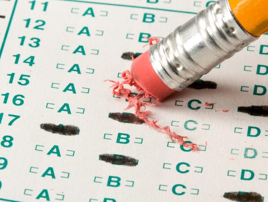 Test quiz stock photo