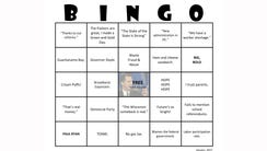 Democratic lawmakers played their version of bingo
