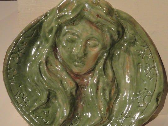 """""""Portrait Platter,"""" ceramic piece by Joey Doucette"""
