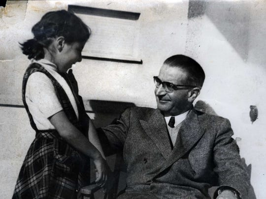 Zsuzsi Kasztner and her father.