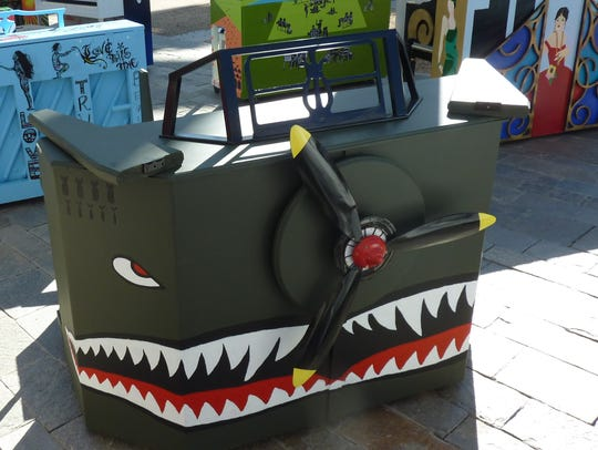 The toothy grin of this painted P-51 Mustang fighter