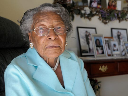 Recy Taylor sits in her home in Winter Haven, Fla., in October 2010. Taylor's brutal sexual assault by six white men in 1944 in the racially divided South is featured in a book by Danielle McGuire of Huntington Woods.