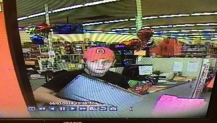 Surveillance photo from Family Dollar in Batavia Township which allegedly shows the suspect in a weekend robbery.