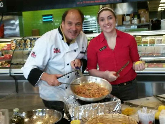 """Chef Neil """"Nino"""" Thibodeaux is pictured with Sheena L. Burley, who coordinates marketing and events for Rouses locations in Acadiana."""