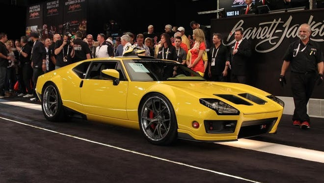 """The Ring Brothers of Spring Hill, Wisc., put 5,000 man-hours into this 1971 Pantera, ADRNLN, which sold Jan. 16 for $330,000. The new owner is Richard Rawlings of """"Fast N' Loud"""" fame."""