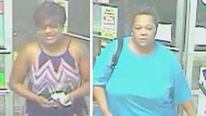 The Richmond Police Department is asking for help identifying two female suspects in the theft of liquor from Papa Joe's Liquors.