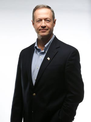 Former Maryland Gov. Martin O'Malley hit five Iowa cities in two days of campaigning Friday and Saturday.