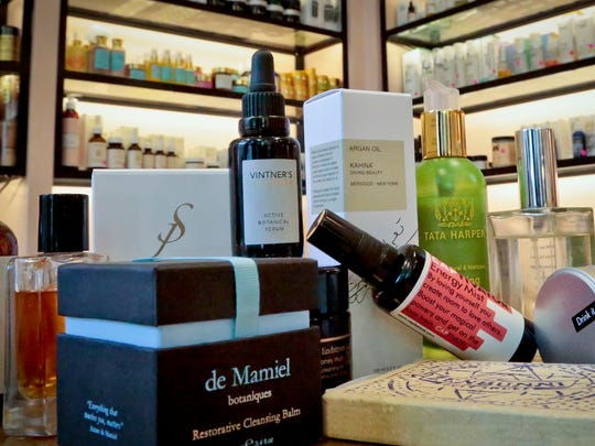 This Wednesday, April 27, 2016, photo shows a display of products sold at CAP Beauty, a wellness store with an all-things-natural approach in New York.