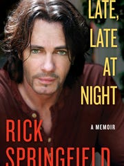 Cover of Rick Springfield's autobiography, Late, Late at Night