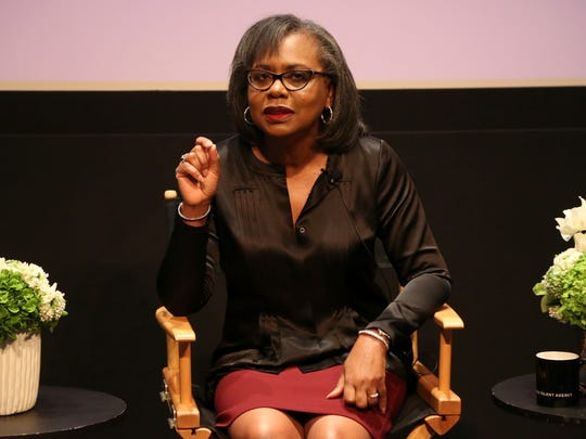 FILE - In this Dec. 8, 2017 file photo, Anita Hill