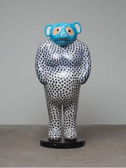 "Untitled sculpture of a tanuki, or ""racoon dog,"" by"