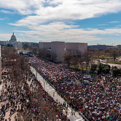 Aerial images from March for Our Lives rallies around the world shows huge turnout