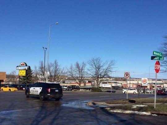 Northbound traffic on Minnesota Avenue was being diverted at Bennett.