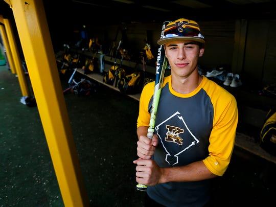 Kickapoo High School outfielder Mason Auer. The Chiefs