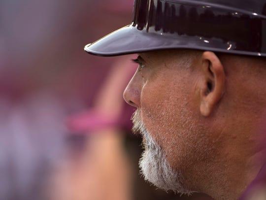 Henderson County Asst. Coach J.D. Arndt waits for the