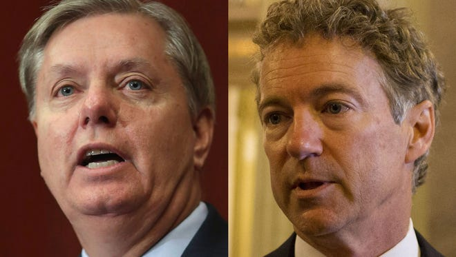 Sens. Lindsey Graham, R-S.C., and Rand Paul, R-Ky.