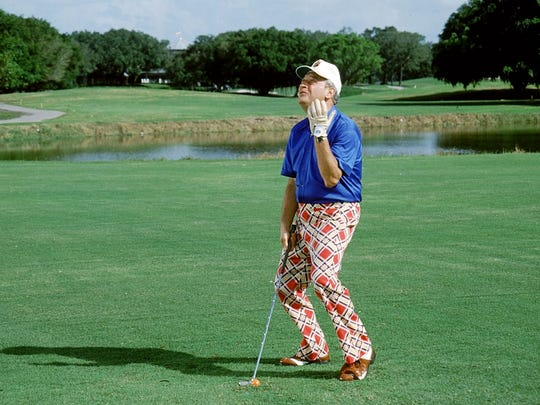 "Rodney Dangerfield in a scene from the movie ""Caddyshack."""