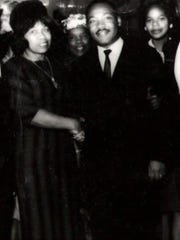 Louise Shropshire with the Rev. Martin Luther King