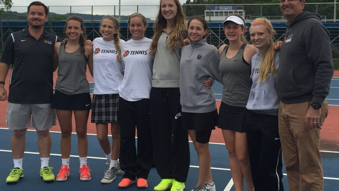 The MTCS girls tennis team defeated Page 4-1 to reach its first Class A/AA state tournament on Wednesday.