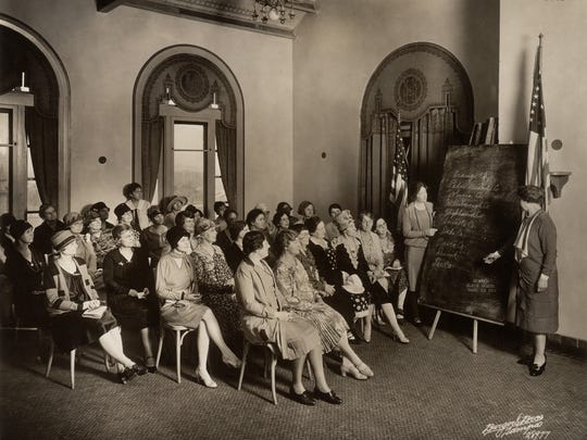 The League of Women voters hosted citizenship classes,
