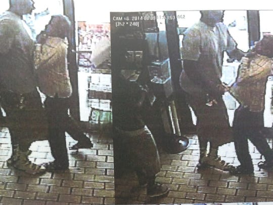 Images from a robbery at a store in Ferguson, Mo.