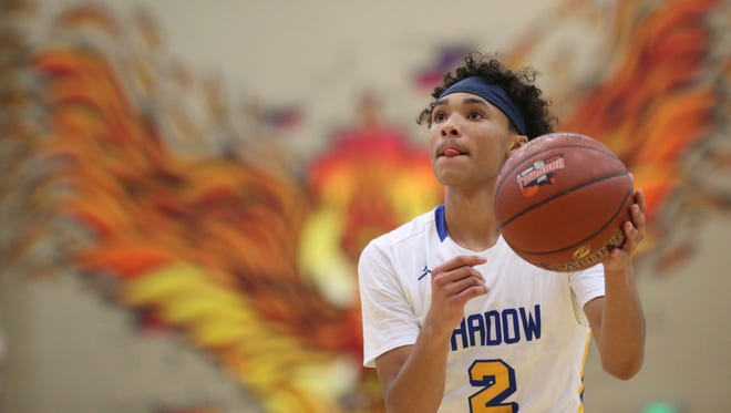Shadow Mountain's Jaelen House (2) shoots free throws against Chino Hills during the Hoophall West tournament at Chaparral High School on December 8, 2017 in Phoenix, Ariz.