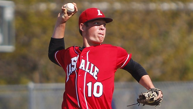 La Salle pitcher Nick Ernst delivers a pitch during the 2014 season.