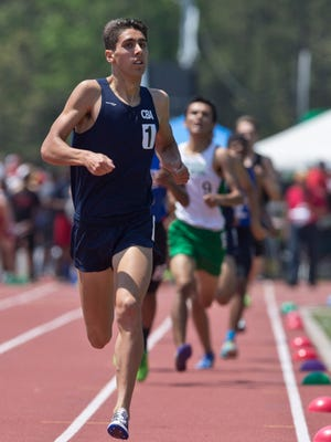 Christian Brothers Academy's Drake Anzano wins the 800m Non-public A race with a time of 1:56:73. NJSIAA South Sectional Groups I, IV, and Non-Public A Track & Field Championships.Egg Harbor Township, NJ Saturday, May 28, 2016@dhoodhood