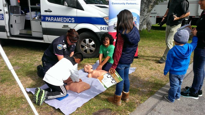 CPR training session at past Community Safety Day