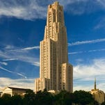 University of Pittsburgh's 42-story Cathedral of Learning, the tallest educational building in the Western hemisphere.