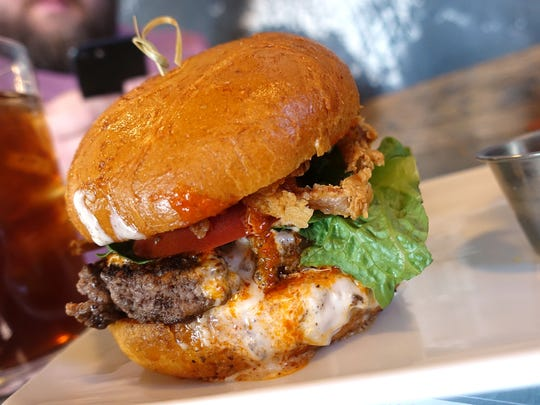 Near the Peoria Sports Complex: Peoria Artisan Brewery offers this beef tatanka burger with Buffalo sauce, crispy onions and gorgonzola cream.