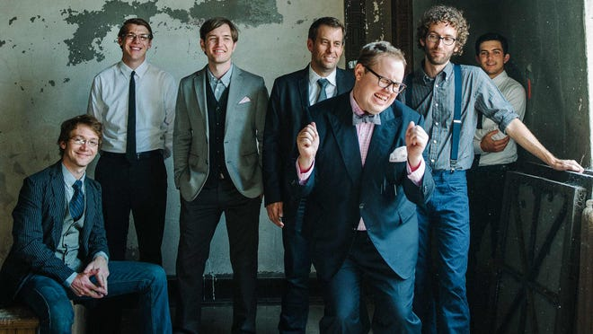 St. Paul and The Broken Bones is led by singer Paul Janeway (front).