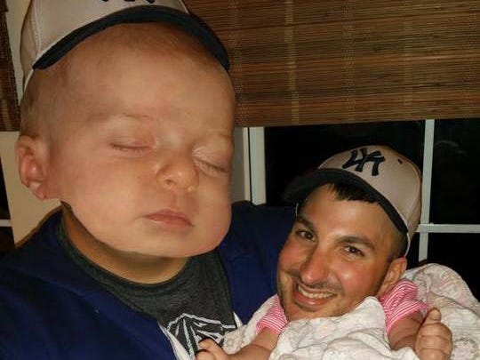 My husband swapped heads with our baby... This was his profile picture on Facebook for the longest time.