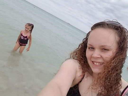 This photo of Rebekah Lee Dobson Pollard (front) and her goddaughter, Isabel Varona, 5, was taken during Pollard's recent trip to Florida.