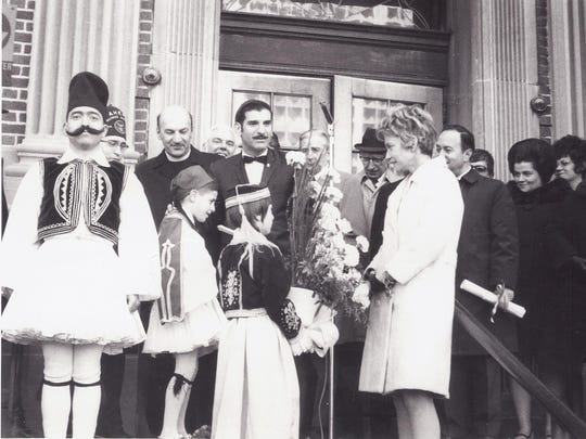 """St. George Church celebrates Greek Independence Day in 1971 in New Brunswick. St. George is commemorating its 100th anniversary with three major events during its """"Celebration Week"""" October 15 – 22. Celebration Week is the finale of the church's year-long 100th Anniversary activities."""
