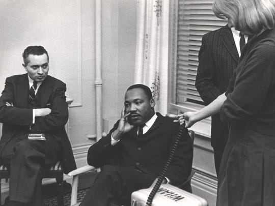 Martin Luther King Jr. is interviewed in Rochester