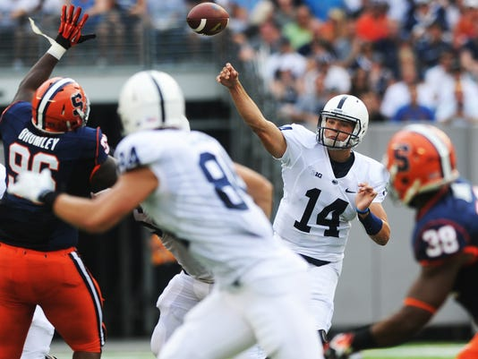 Christian Hackenberg needs to find reliable blockers, and injuries are taking a toll.