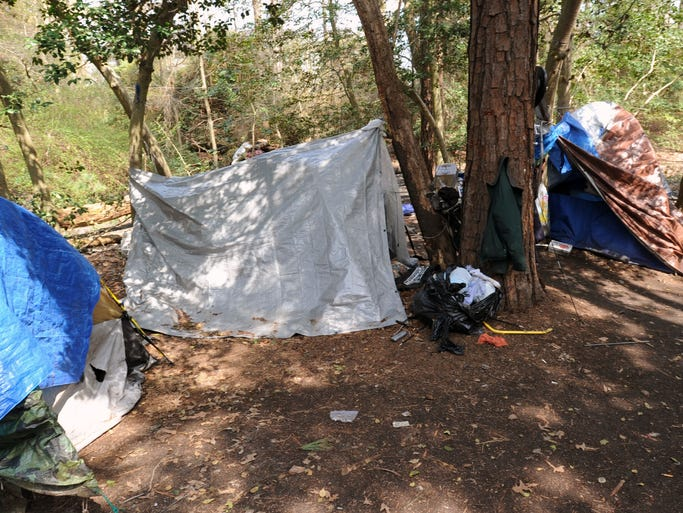 A landowner who has had homeless people in tents on his land for at least a year asked police to ensure they're evicted by Saturday, after Sussex County sent him a letter last December notifying him it was illegal to have the homeless camped there. It's set off a familiar scramble for homelessness advocates to house them.