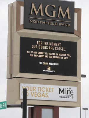 The MGM Northfield Park is reopening to customers June 20.