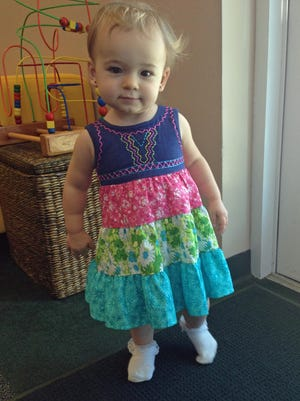 Isabella is ready for the warm weather with a whole new set of clothing for the spring.
