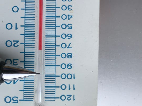 Temperatures in Burlington remained in the 90s through Thursday, July 5, 2018, according to the National Weather Service.