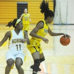 Sophomore Kierra Crockett had 16 points and eight rebounds to lead Raiders.