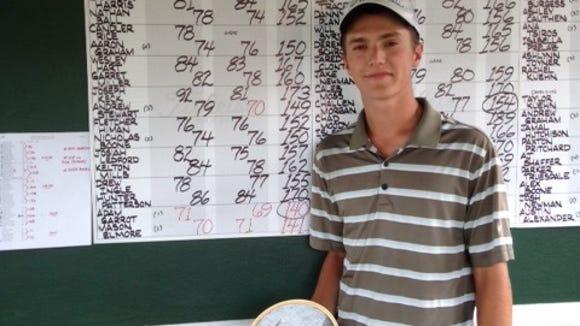 Recent Reynolds graduate Adam Garrott won the junior division of the Skyview Open on Thursday.