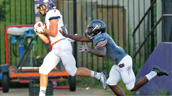 NSU's Ed Eagan is a two-way member as a receiver and all-purpose player on the Southland Conference first team.