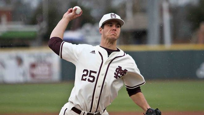 Mississippi State junior Dakota Hudson earned SEC Pitcher of the Week.