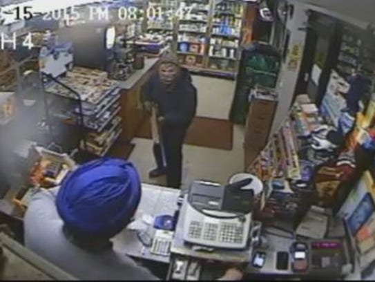 Police are seeking a suspect in a Hyde Park gas station