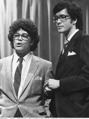 """Saturday Night Live"" writer/performers Al Franken, left, and Tom Davis in 1978 in New York."