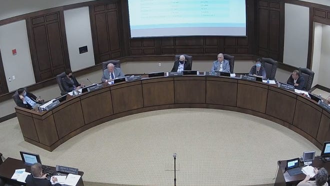 North Augusta City Council discusses the best way to reward employee merit during a study session Monday, Nov. 16.